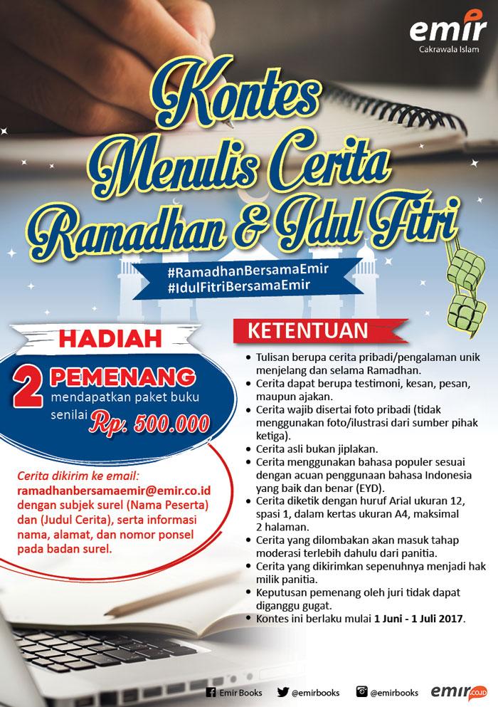 kontes menulis cerita ramadhan 2017